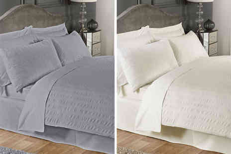 Cascade Home - Single seersucker duvet set - Save 70%