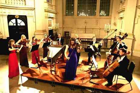 Candlelight Concerts - Band D ticket to a Concerts by Candlelight performance of Vivaldi The Four Seasons by London Concertante with a CD and programme - Save 37%