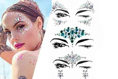 GetGorgeous - Pack of five face art jewels - Save 53%