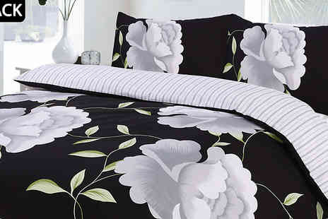 eHome Store - Rosaleen Duvet Cover Set Choose from 6 Colours and 4 Sizes - Save 60%