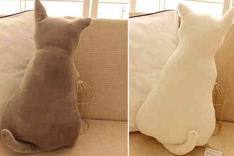 Domosecret - Plush Cat Pillow Choose from 3 Colours and 2 Sizes - Save 83%