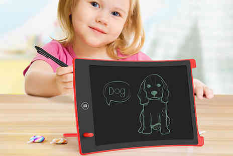 WowWhatWho - Kids 8.5 Inch Led Digital Writing Tablet Choose from 5 Colours - Save 73%