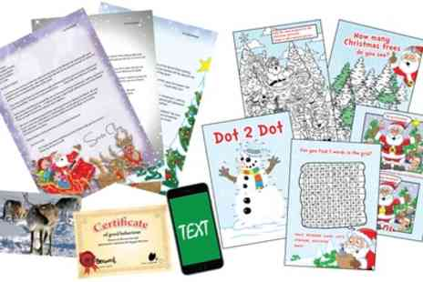 Personalised Santa Letter - Up to Three Letters from Santa with Activity Packs - Save 50%