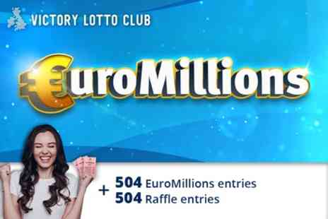 Victory Lotto Club - 504 Syndicated EuroMillions Lines and 504 Syndicate Raffle Entries - Save 80%
