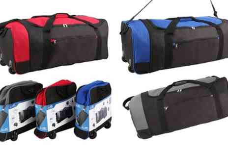 Groupon Goods Global GmbH - One or Two Foldaway Lightweight Luggage Holdalls with Wheels - Save 0%