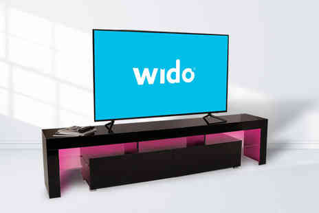 Wido - Two metre TV cabinet stand with Led lighting - Save 52%