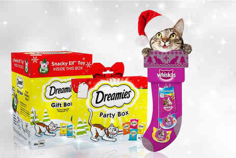 Trojan Electronics - Six 120g Dreamies Christmas party boxes or three boxes of 300g Dreamies gift boxes or five Whiskas stockings - Save 0%