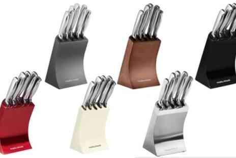 Groupon Goods Global GmbH - Morphy Richards Accents Five Piece Knife Block Set - Save 30%