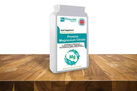 Prowise Healthcare - Two month supply of 500mg magnesium citrate capsules - Save 77%