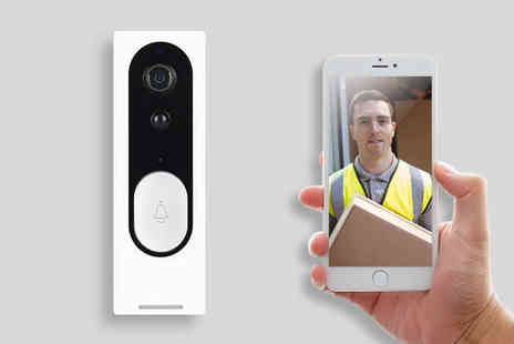 Wishwhooshoffers - Slim WiFi smart security doorbell - Save 60%