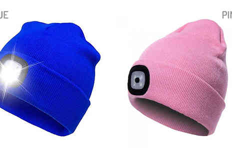 WhoGotThePlan - Rechargeable Led Headlight Beanie Hat Choose from 10 Colours - Save 65%
