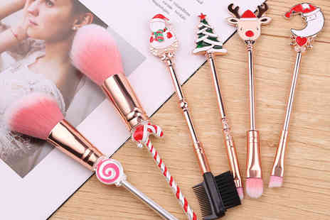 Litnfleek - Christmas makeup brush set - Save 70%