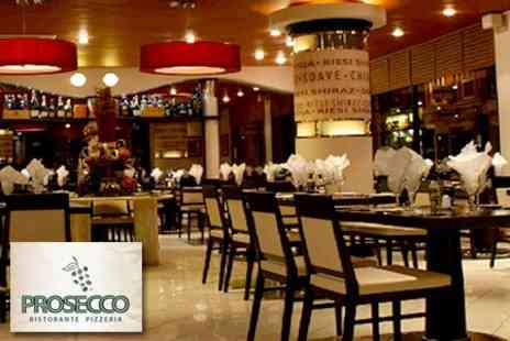 Prosecco - Two Courses of Authentic Italian Cuisine For Two Plus Wine - Save 66%