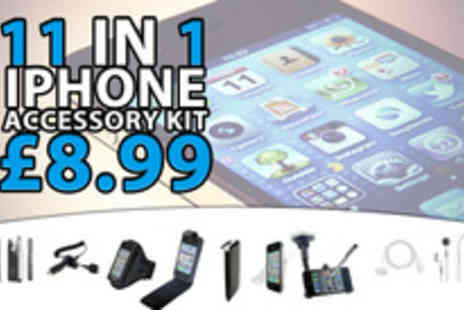Digital Deals - An 11 piece iPhone accessory kit - Save 70%