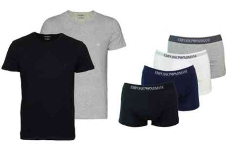 Groupon Goods Global GmbH - Armani Two Tshirts or Three Pairs of Boxers - Save 5%