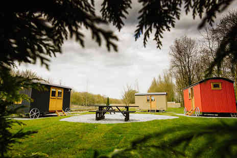 Samlesbury Hall - Four Star Overnight self catered Shepherds Hut stay for up to four people with fire pit kit - Save 47%