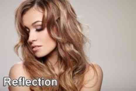 Reflection Salon - Half head of highlights, cut, blow dry and conditioning treatment - Save 68%