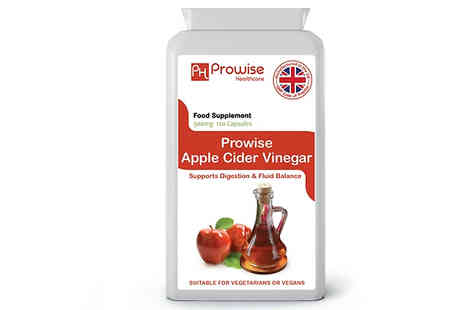 Prowise Healthcare - 4 or 8 Month Supply of Prowise Apple Cider Vinegar Capsules - Save 70%