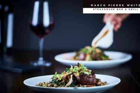Marco Pierre White Steakhouse Bar & Grill - Two Course Meal for Two - Save 50%