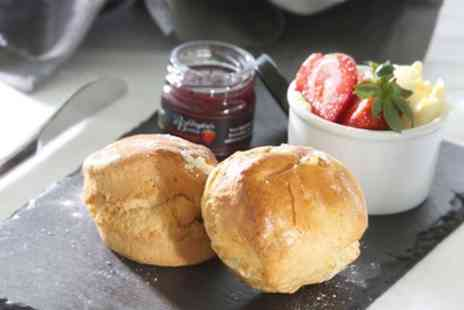 Porth Veor Manor - Traditional or Sparkling Cream Tea for Two of Four - Save 37%
