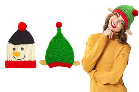 Avant Garde Brands - Festive Elf and Snowman Face Xmas Hat Choose from 2 designs - Save 73%