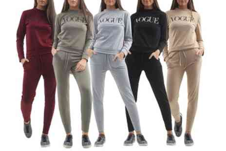 Groupon Goods Global GmbH - Womens Vogue Print Tracksuit - Save 17%