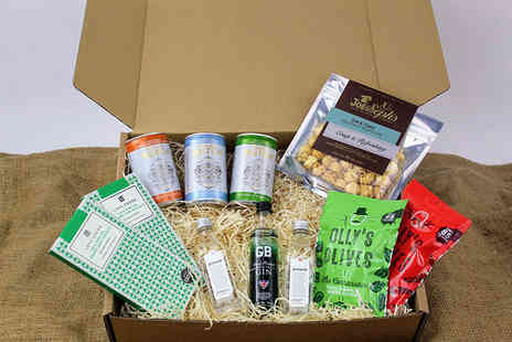 Borough Box - Quiet Night Gin Hamper including gin, tonic and snacks - Save 37%