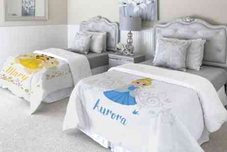 Printerpix - One or Two Personalised Princess Blankets in Choice of Sizes - Save 81%