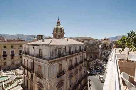 B&B Hotel Palermo Quattro Canti - Four Star Stylish City Centre Hotel with Rooftop Terrace for two - Save 59%