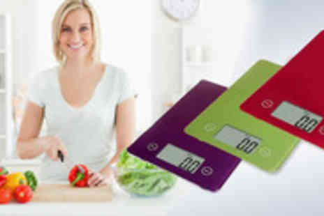 jewel2sell - An Accurate Ultra Slim Digital Kitchen Scale, available in vibrant colours - Save 65%