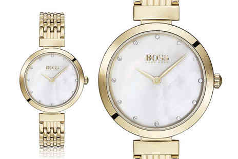 Best Watch Company - Hugo Boss ladies gold celebration watch - Save 63%