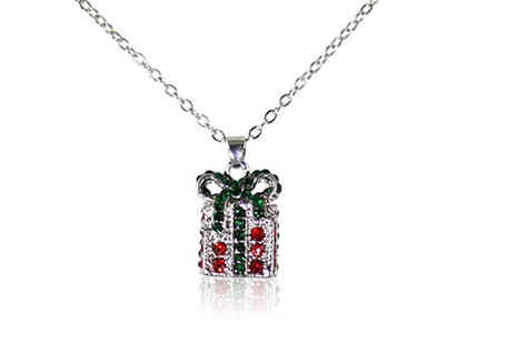 Gemnations - Christmas present crystal encrusted pendant - Save 89%