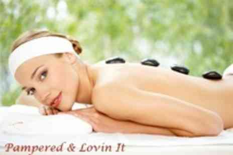 Pampered And Lovin It - One Hour Full Body Hot Stone Massage With Mini Facial - Save 70%