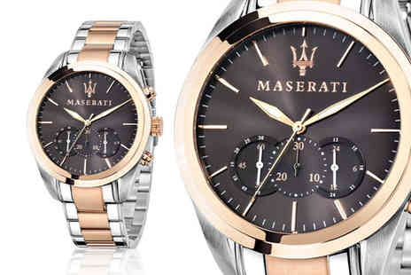 Best Watch Company - Maserati 8873612003 mens two tone stainless steel watch - Save 0%