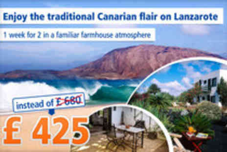 Caserio de Mozaga - Restful vacation on Lanzarote for 7 nights for 2 people - Save 38%