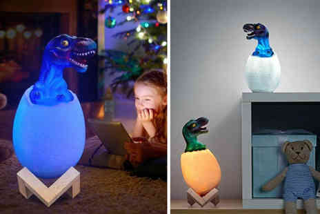 MBLogic - 3D Led hatching dinosaur night light with three colour options or sixteen colour options - Save 75%