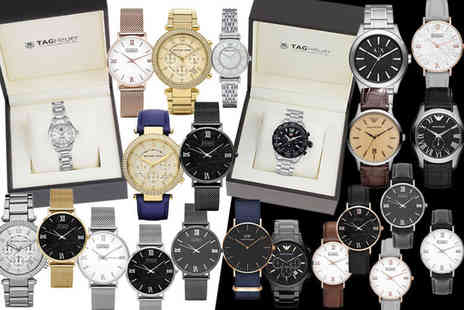 Gray Kingdom - Luxury mystery watch deal for him or her Tag Heuer, Emporio Armani, Michael Kors, Daniel Wellington and Luke Henry - Save 0%
