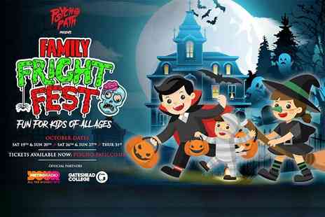 PSYCHO PATH - Child ticket to Family Fright Fest presented by Psycho Path at the 700-acre Lintz Hall Far - Save 35%