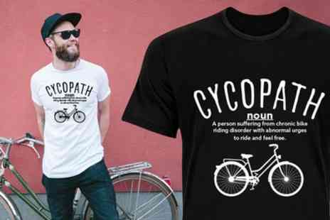 Groupon Goods Global GmbH - One or Two Mens Cycopath Print Cotton Tshirts - Save 81%