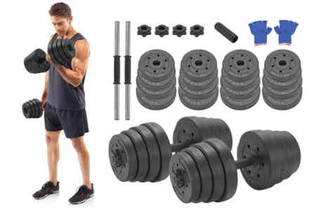 Vivo Mounts - 30kg deluxe dumbbell set - Save 58%