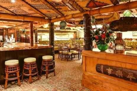 Trader Vics Restaurant and Cocktail Bar - Three Course Meal with Drink for Two - Save 48%