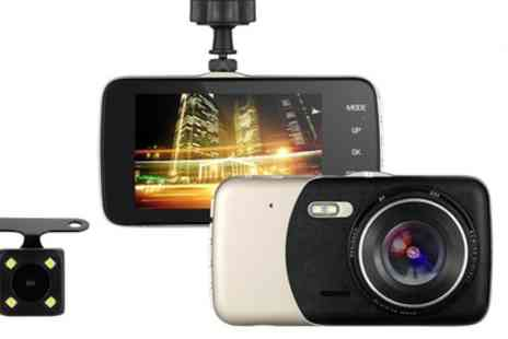 Groupon Goods Global GmbH - 1080P HD Front and Rear Dash Cam Recorder with Optional 32GB SD Card - Save 78%