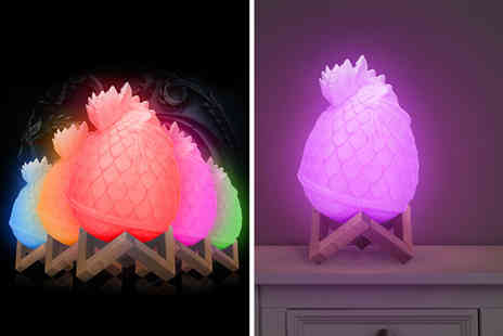 Litnfleek - 3D dragon egg night light and stand - Save 68%
