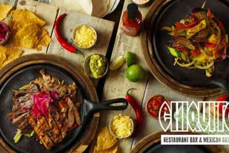 Chiquito - Two Course Tex Mex Meal for Two - Save 50%