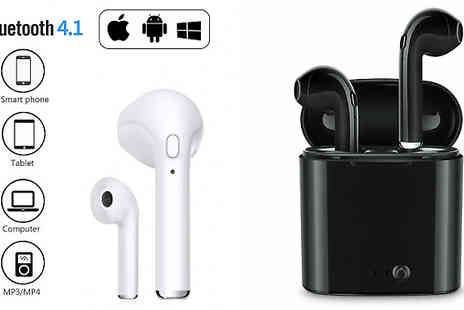 DML Solutions - Apple and Android Compatible Wireless Earbuds with Optional Charging Dock Choose from 2 Colours - Save 78%