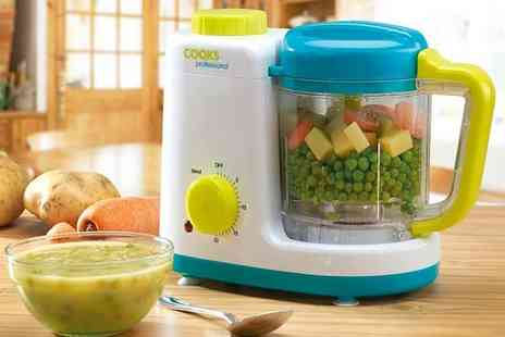 CJ Offers - Cooks Professional baby food blender and steamer - Save 46%