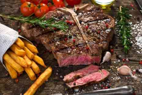The Point Bar & Grill - 8oz West Country Rump Steak with Glass of Wine for Two or Four - Save 45%