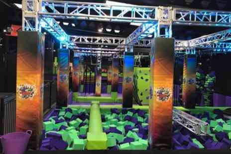 Jump Giants Newcastle - One or Two Hour Trampoline Jump Session for Up to Four - Save 29%