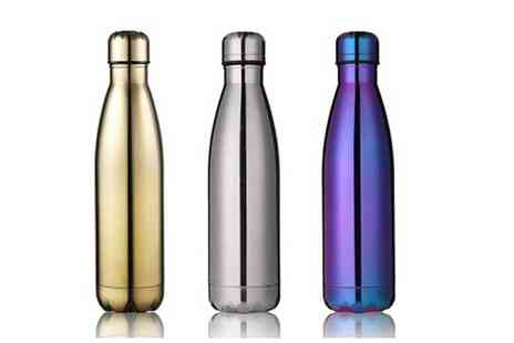 Vivo Mounts - 500ml double walled stainless steel drinking bottle choose from three colours - Save 53%