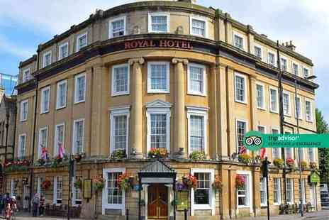 The Royal Hotel - Overnight stay for two people with breakfast, glass of champagne or Processo, bottle of wine, three course dinner and cream tea - Save 34%